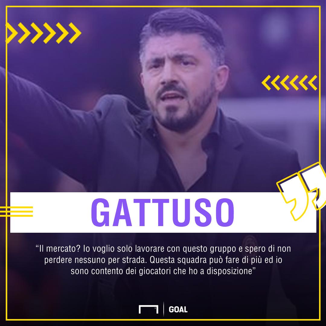 Milan-Inter, Gattuso: