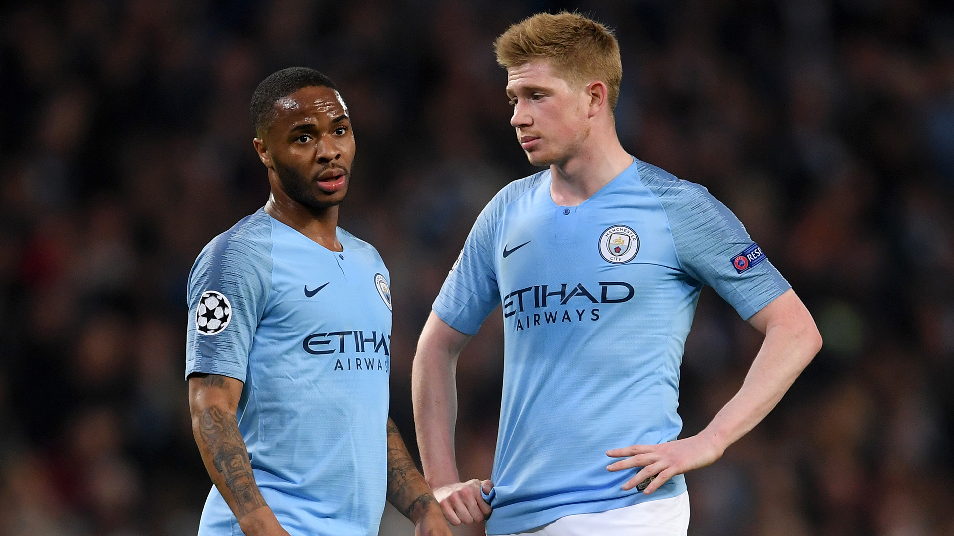 Raheem Sterling Kevin De Bruyne Man City
