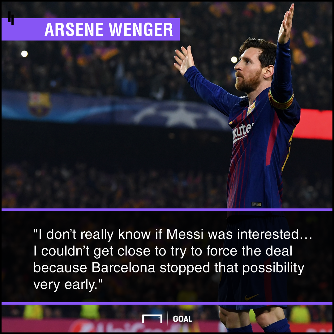 Arsene Wenger Lionel Messi Arsenal interest
