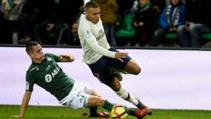 Kylian Mbappe Romain Hamouma Saint-Etienne PSG Ligue 1 17022018