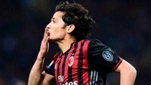 Mati Fernandez celebrates his scoring Milan Genoa Serie A 18032017