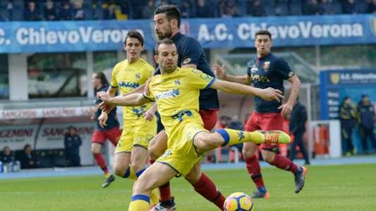 Riccardo Meggiorini Nicolas Spolli Chievo Genoa Serie A 02112018