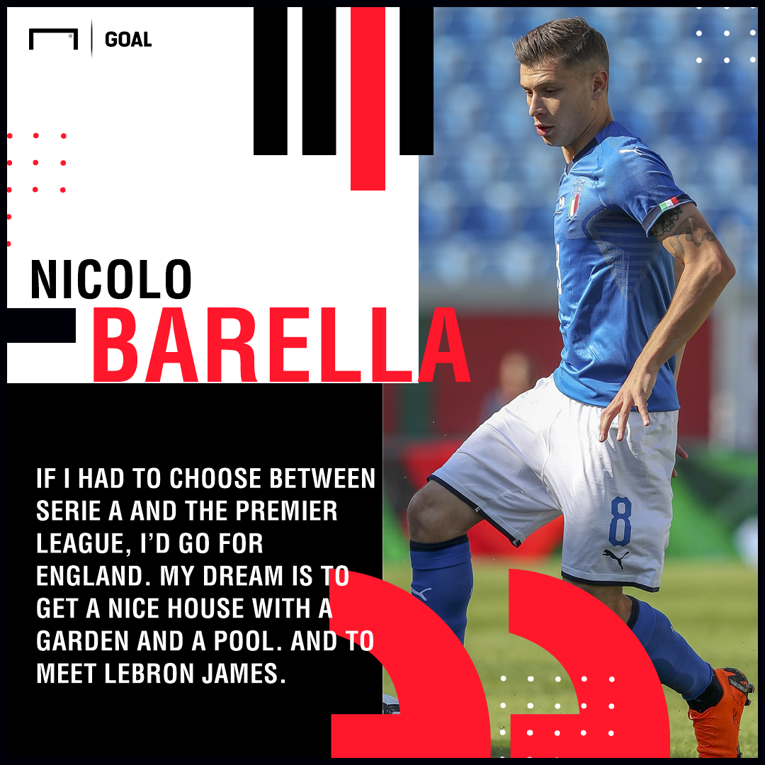 Nicolo Barella Premier League ambition Lebron James