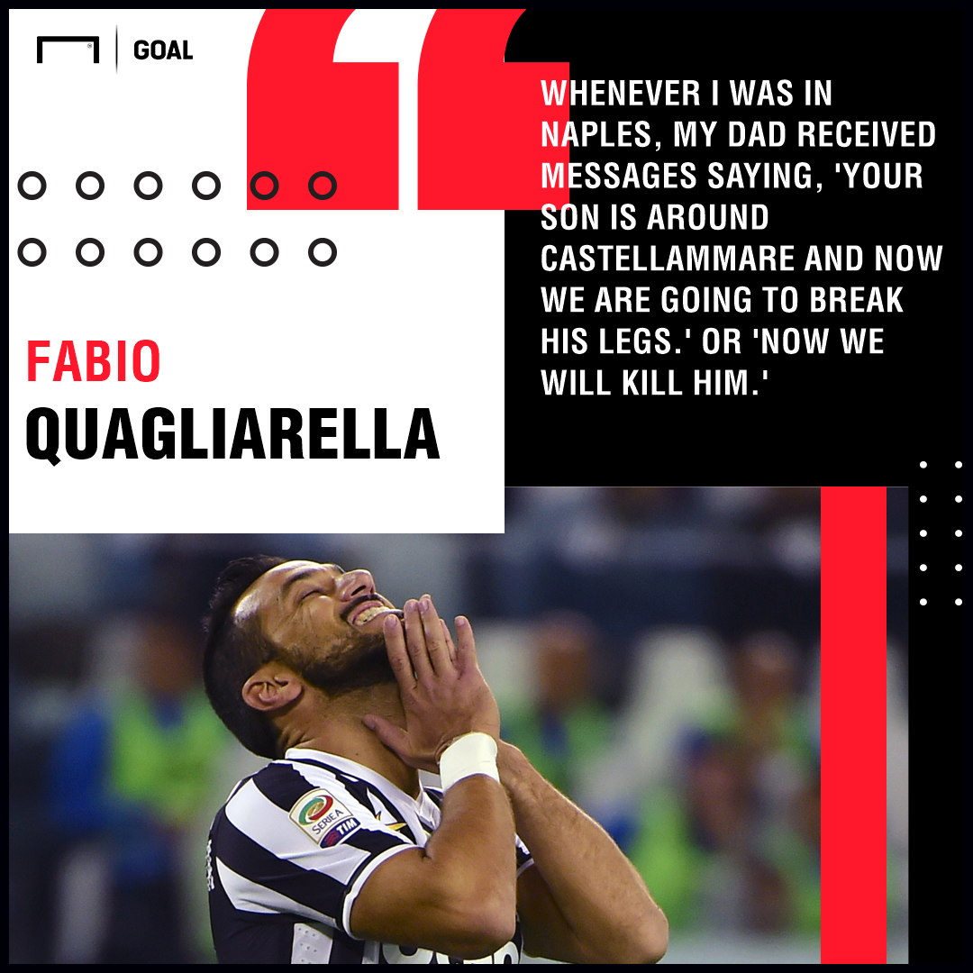 Fabio Quagliarella death threats PS