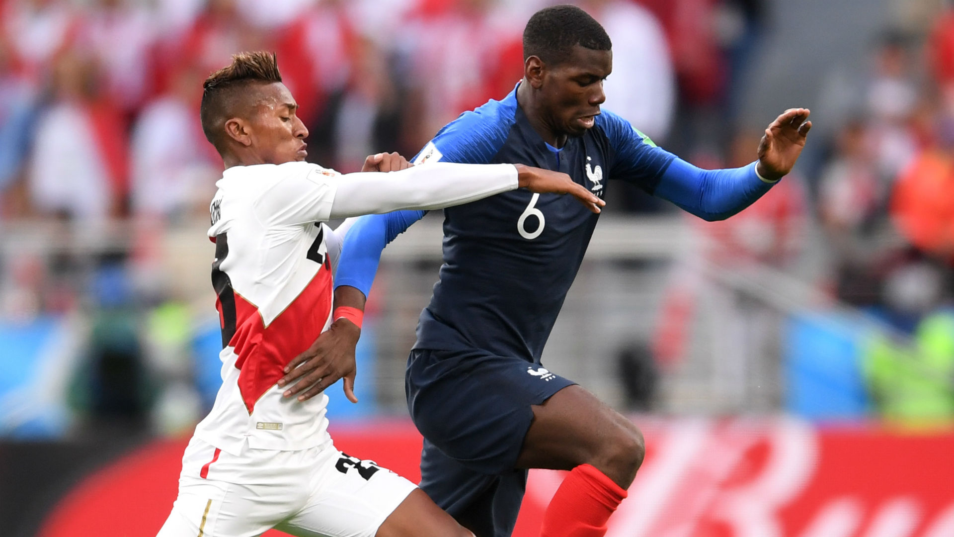 Paul Pogba Pedro Aquino France Peru World Cup 2018 21062018