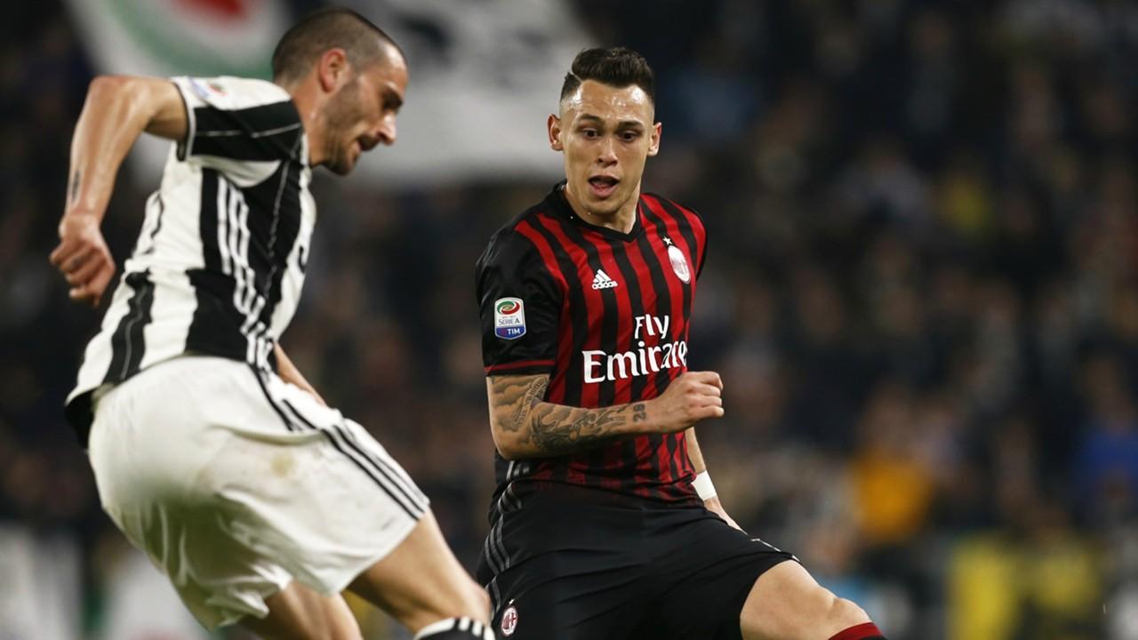 Leonardo Bonucci Lucas Ocampos Juventus Milan Serie A