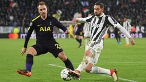 Mattia De Sciglio Christian Eriksen Juventus Tottenham Champions League