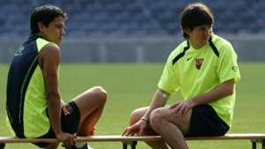 Javier Saviola Lionel Messi 2005