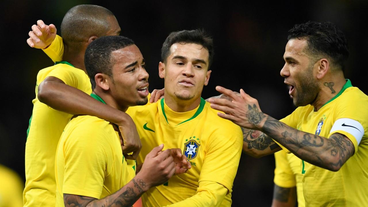 Philippe Coutinho Gabriel Jesus Daniel Alves I Brasil Alemanha I 27 03 18