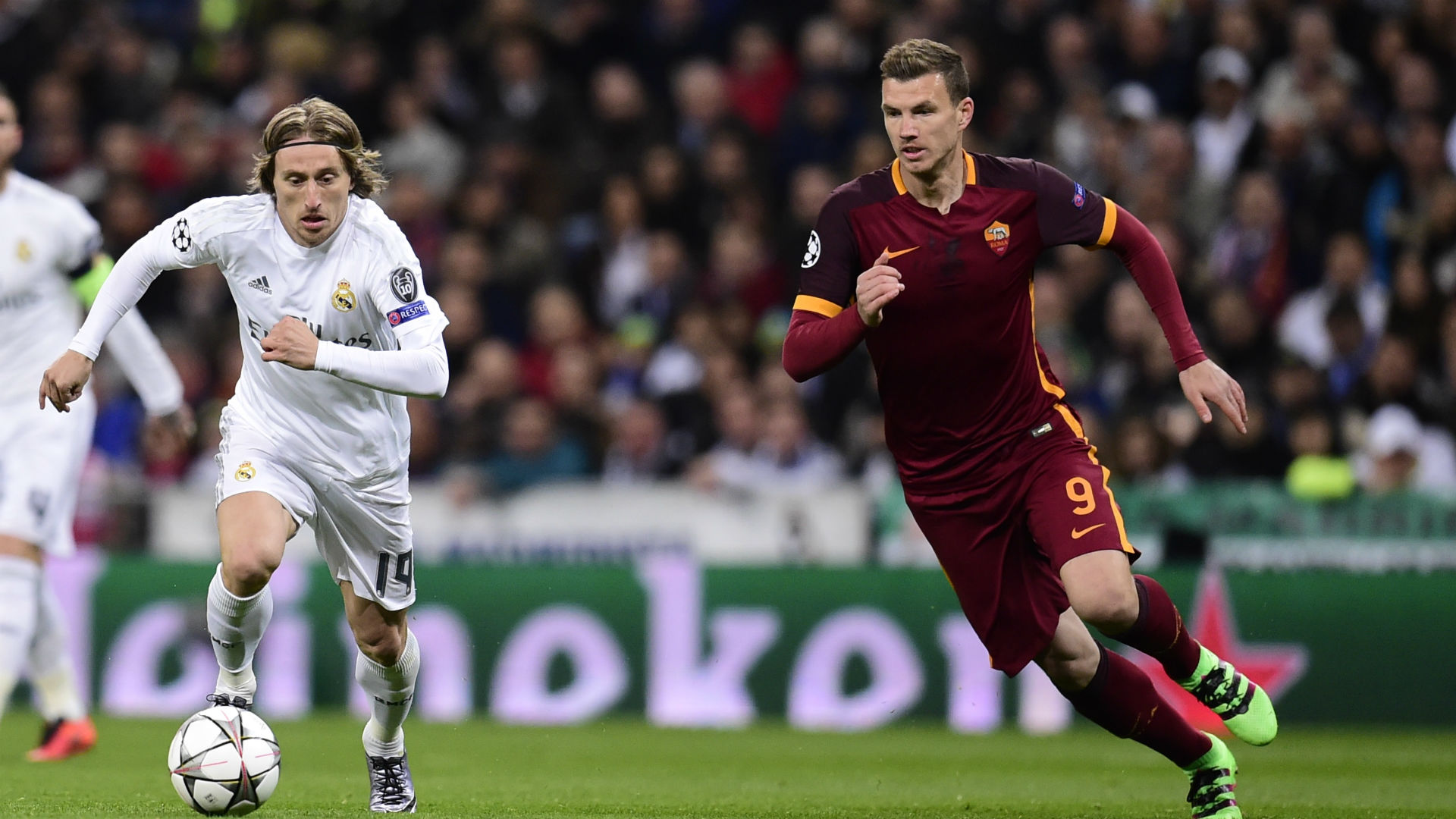 Luka Modric Edin Dzeko Real Roma