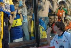 Messi en La Bombonera 2005