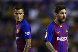 Philippe Coutinho Lionel Messi Barcelona 2018