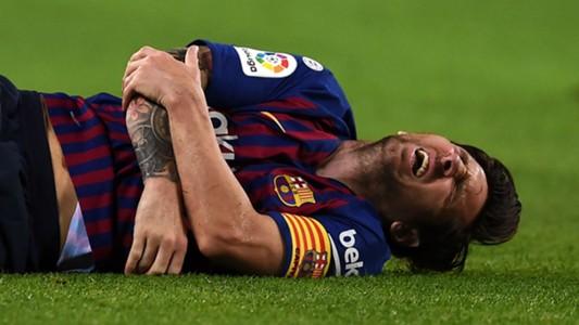 Lionel Messi hurt Barcelona Sevilla