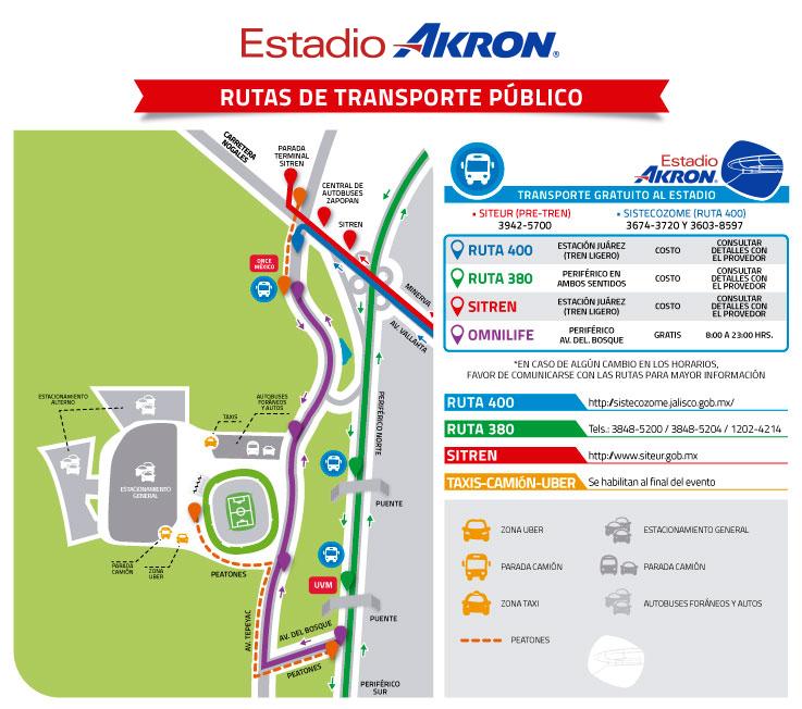 Llegar Estadio Chivas