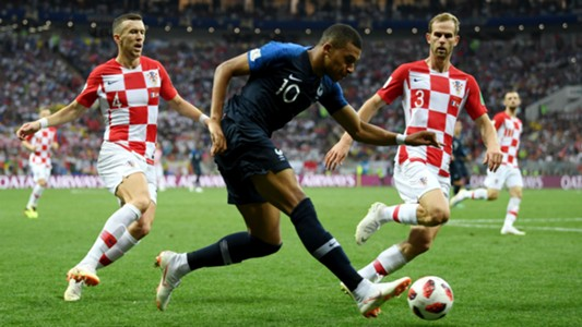 Kylian Mbappe Ivan Perisic France Croatia World Cup Final 15072018