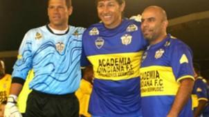 Oscar Córdoba, Jorge Bermúdez y Chicho Serna