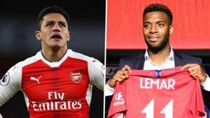 Alexis Sanchez, Thomas Lemar, Arsenal, Atletico Madrid split