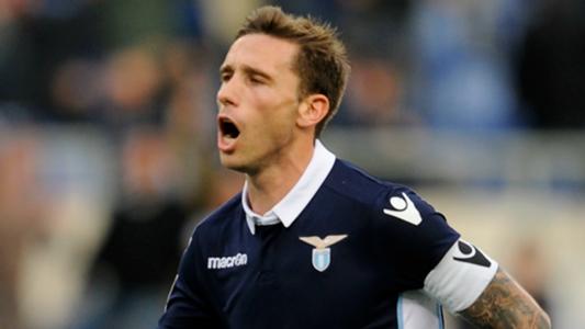 Lucas Biglia celebrating Lazio Genoa Serie A 20112016