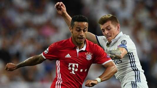 Thiago Alcantara Toni Kroos Real Madrid Bayern Munich UCL 18042017