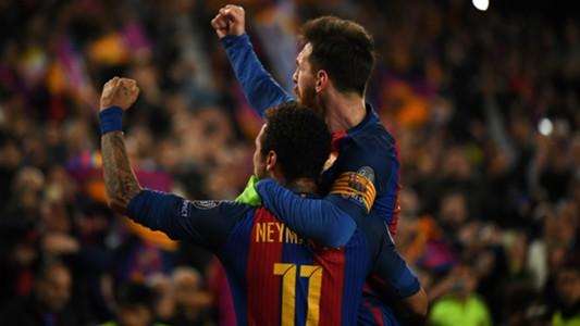 Lionel Messi Neymar Barcelona Champions League