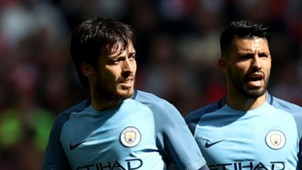 David Silva Sergio Aguero Manchester City