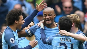 Vincent Kompany Manchester City celebrate