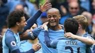 Vincent Kompany Manchester City celebrate