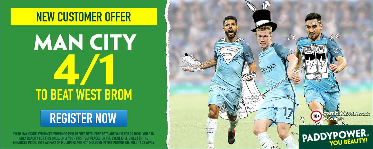 GFX Manchester City West Brom enhanced betting