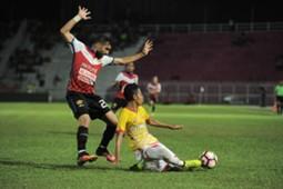 Kelantan's Mohammed Ghaddar (left) playing against Selangor 25/2/2017