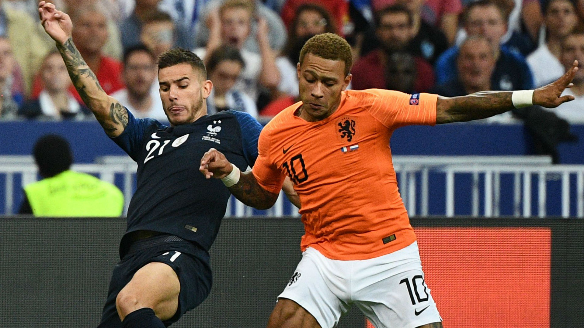 Lucas Hernandez Memphis Depay France Netherlands Nations League 09092018