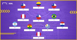 XI ideal fecha 17 Eliminatorias Sudamericanas