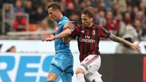 Lucas Biglia Arkadiusz Milik Milan Napoli Serie A 04152018