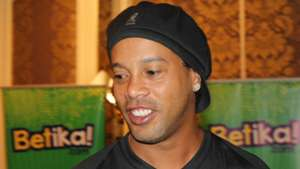 Ronaldinho Gaucho of Brazil while in Kenya.