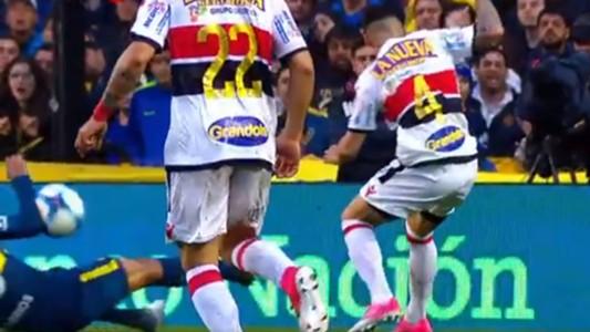 Video Mano Wilmar Barrios Boca Chacarita Superliga 01102017