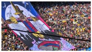 Tifo derbi catalan