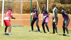 Francis Onyiso of Ulinzi Stars with U-17 squad.