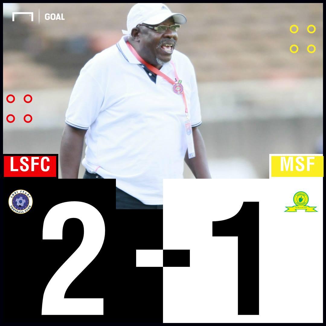 Lobi Stars Sundowns scoreline PS