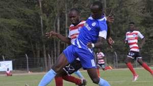 Ezekiel Okare of Sofapaka and Wyvonne Isuza of AFC Leopards
