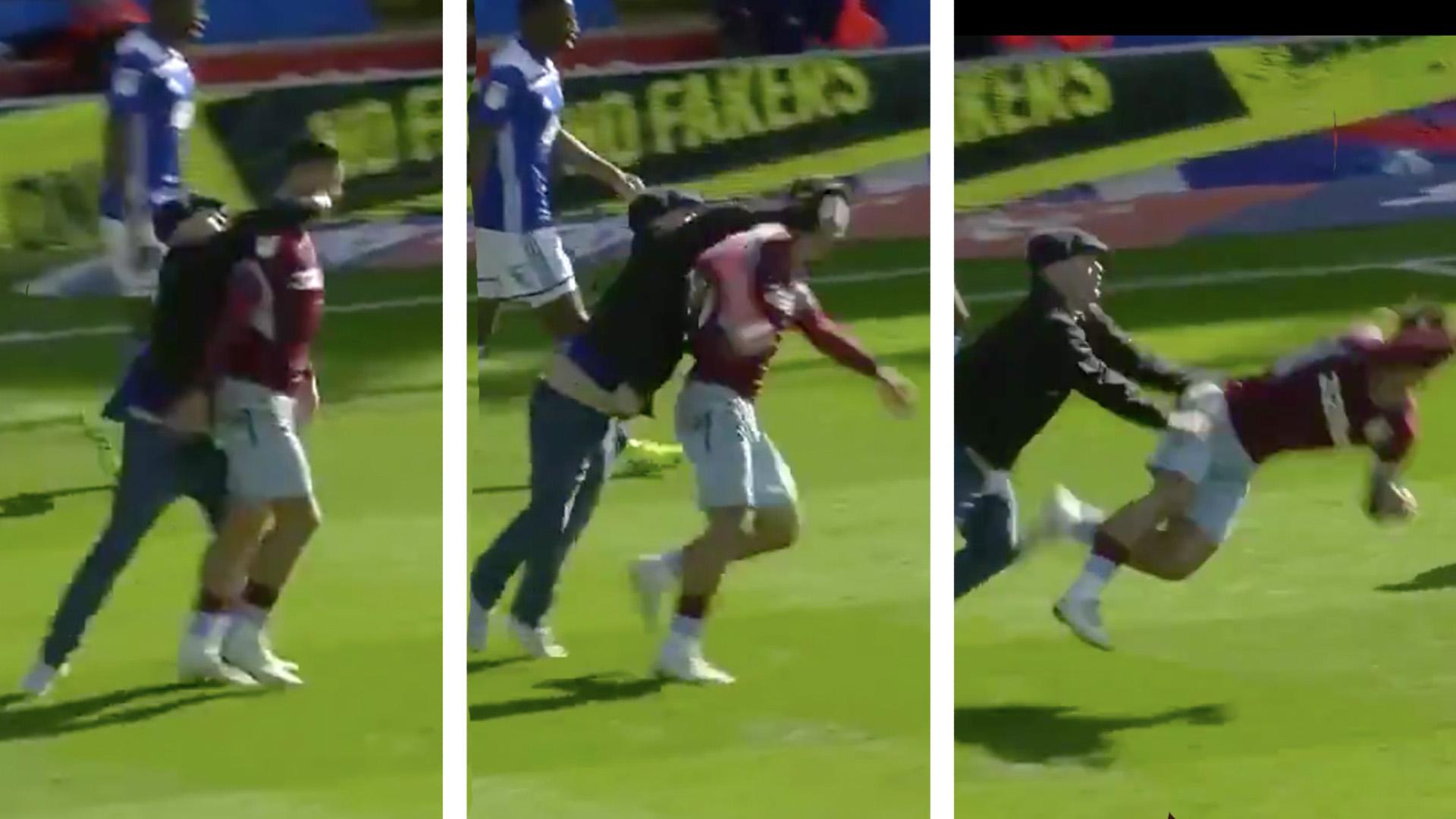 Embed only Jack Grealish Aston Villa punch