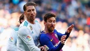 Sergio Ramos Real Madrid Lionel Messi Barcelona
