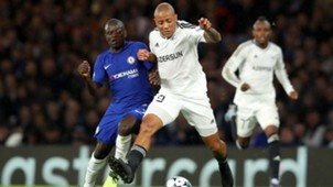 N'Golo Kante of Chelsea, Dino Ndlovu of Qarabag