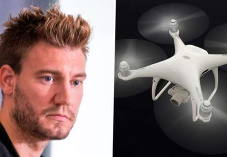 Bendtner spied on by drone during 'Harry Potter marathon'