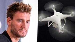 Nicklas Bendtner, drone composite