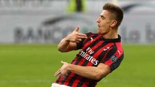 Piatek AC Milan Napoli Coppa Italia