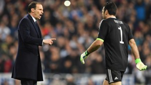 Allegri Buffon Real Madrid Juventus Champions League