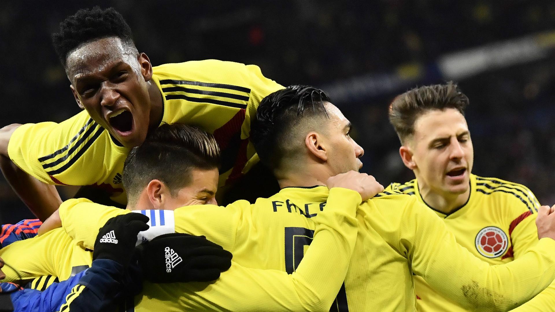 Colombia celebrate