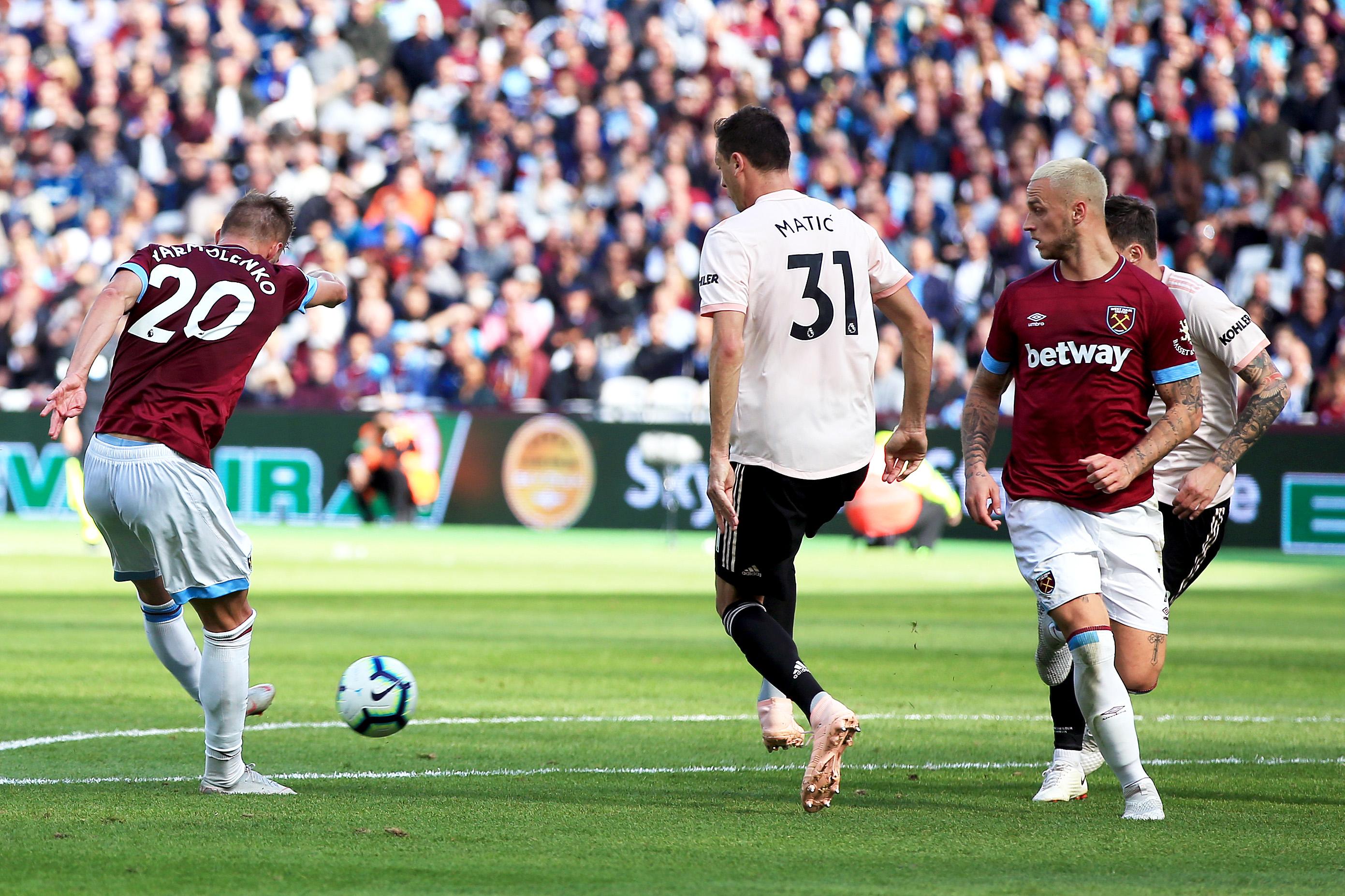 Andriy Yarmolenko West Ham United Manchester United Premier League 29092018
