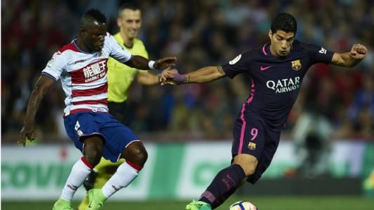 Mubarak Wakaso, Luis Suarez - Granada - Barcelona 02042017