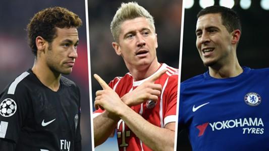 Neymar Lewandowski Hazard Rumours