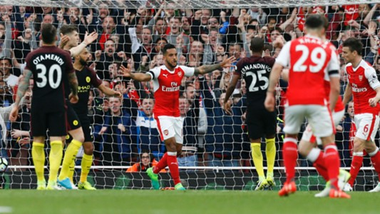 Theo Walcott Arsenal Manchester City